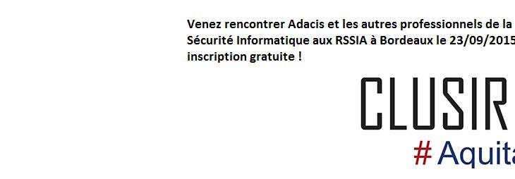 La conférence RSSIA 2015 à Bordeaux !