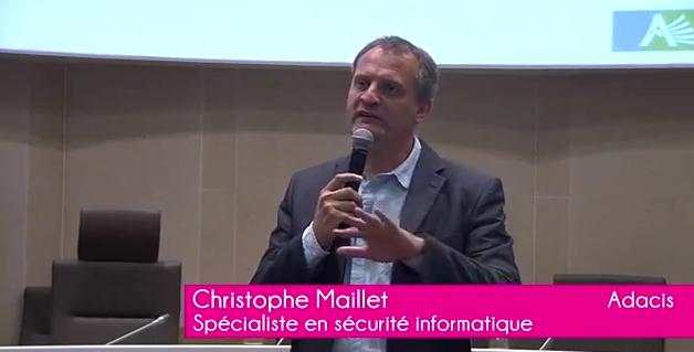 Conférence sur le métier de spécialiste en sécurité informatique – Christophe MAILLET